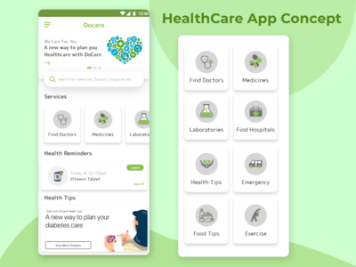 Docare - Health Care App Concept
