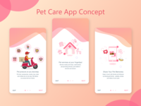 Pet Care App Concept - Onboarding Screens