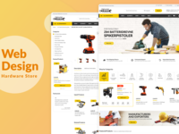 Hardware Store Website Design Concept