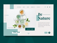 Natural Beauty Products Website Design Concept