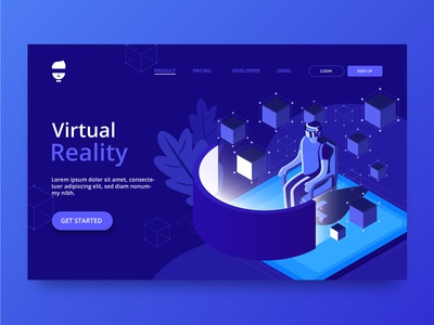 Virtual Reality Landing Website Concept