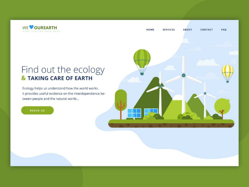 Natural Resources and Green Ecology Website Design proffesional ui adobexd ecoweb mordernweb modernui gogreenwebsite ecologywebsite websites website concept design businness webdesign uidesign