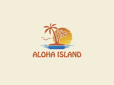 Aloha State minimalist minimal icon islam design illustration clean vector logodesign creative logo