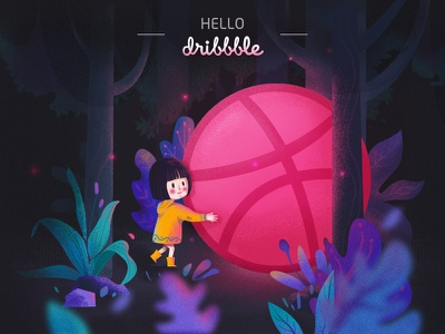 Hello Dribbble! first shot design illustration
