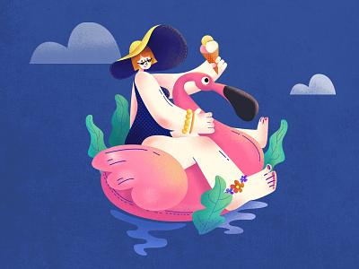 enjoy summer design illustration