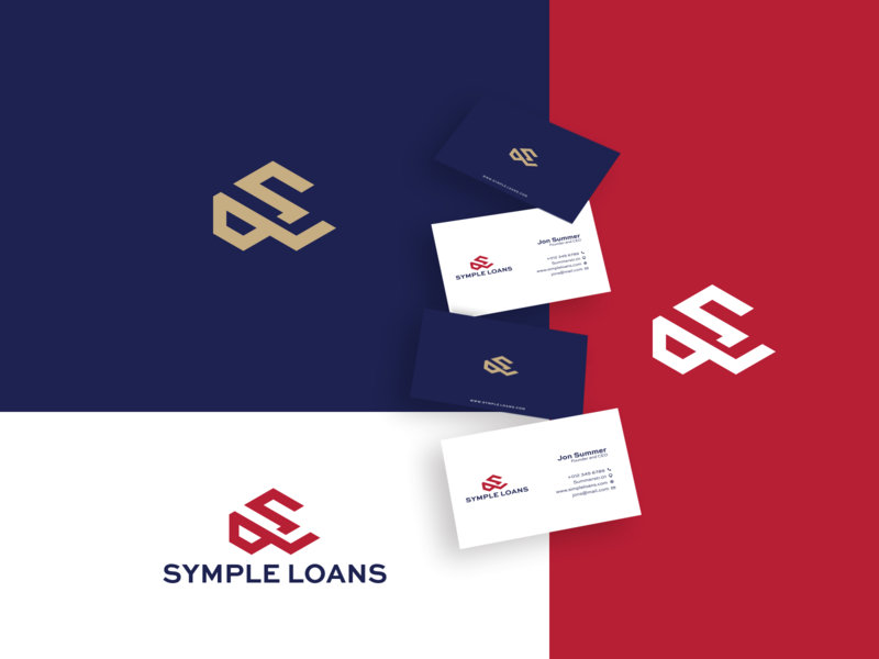 SIMPLE LOAN monogram letter mark app minimal brand and identity icon branding logo illustration vector design