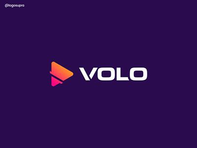 VOLO web minimal app brand and identity icon branding logo illustration vector design