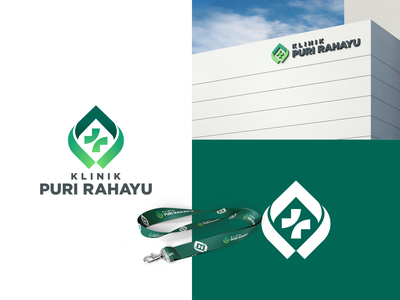 KLINIK PURI RAHAYU flat app minimal brand and identity icon branding logo illustration vector design