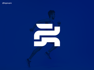 run web esportlogo app minimal brand and identity icon branding logo illustration vector design