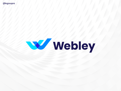 Webley web app minimal brand and identity icon branding logo illustration vector design