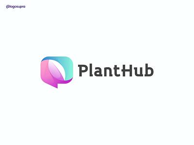 PLANTHUB web app minimal brand and identity icon branding logo illustration vector design