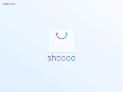 shopoo web app minimal brand and identity icon branding logo illustration vector design
