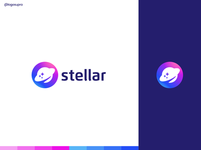 stellar web app minimal brand and identity icon branding logo illustration vector design