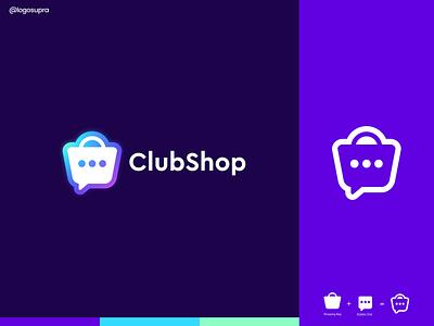 clubshop web app minimal brand and identity icon branding logo illustration vector design