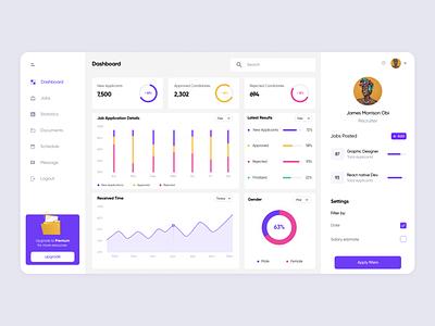 Job Management Dashboard animation ux  ui design illustration mobile app graphic design typography ux ui app