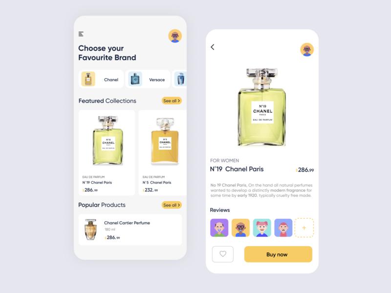 FRAGRANCE STORE UI App