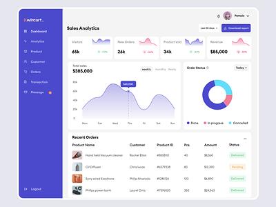 Kwicart E-commerce Dashboard animation clean graphic design branding mobile app illustration typography app ux design