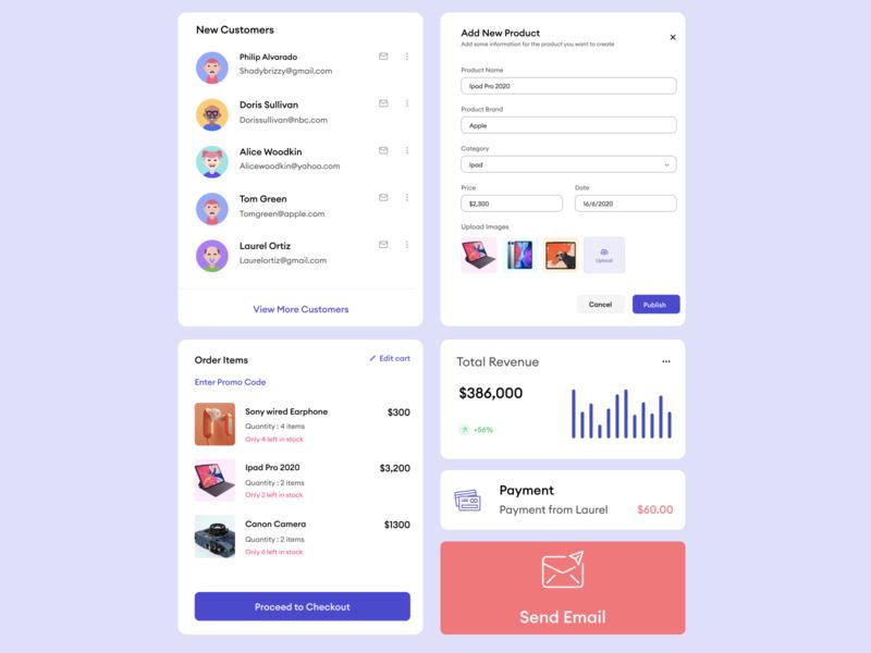 Kwicart E-commerce UI Components mobile branding graphic design animation illustration mobile app ui typography app ux design