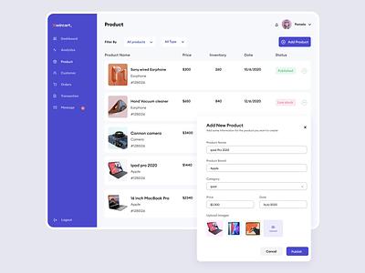 Kwicart E-commerce Add New product minimal clean ux  ui branding illustration animation ui mobile app typography design