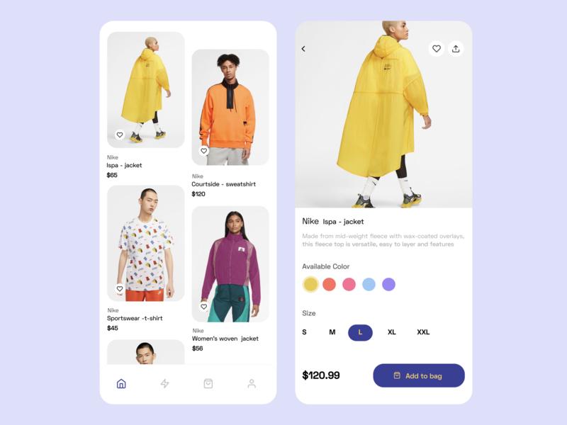 E- commerce clothing app logo web minimal branding mobile app ux ui typography app design