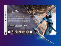 Alita Battle Angel Landing Page