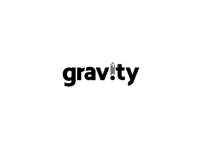 Gravity Logo typography lettermark wordmark brand identity brand mark corporate identity logo identity logotype logo brand logo design fast attract move thing planet earth pull fall gravitation gravity