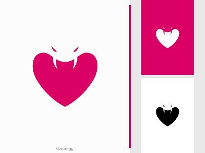 Cobra Love Logo illustration brand designer brand design logomark logotype logo inspiration logo idea logo for sale logo designer logo design adore couple heart poison head animal snake king lovely cobra