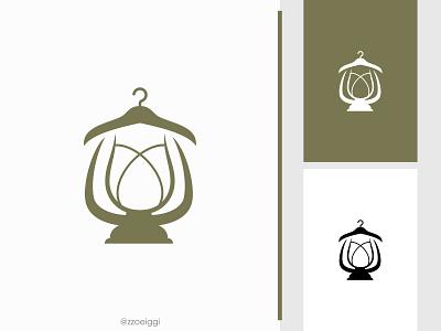 Hanger Lantern Logo illustration brand designer brand design logomark logotype logo inspiration logo idea logo for sale logo designer logo design costume shirt shine clothes apparel fashion light lamp lantern hanger