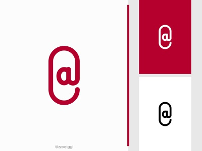 At Paper Clip Logo illustration brand designer brand design logomark logotype logo inspiration logo idea logo for sale logo designer logo design document stationary office spot place location clip paper paperclip at