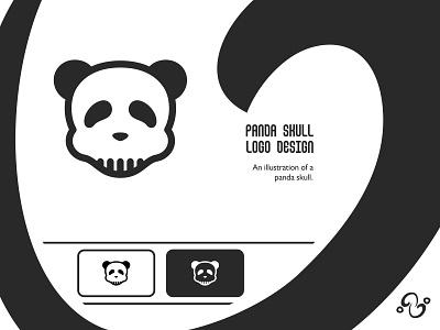 Panda Skull Logo illustration brand designer brand design logomark logotype logo inspiration logo idea logo for sale logo designer logo design nature wild mask face bone skeleton head animal skull panda