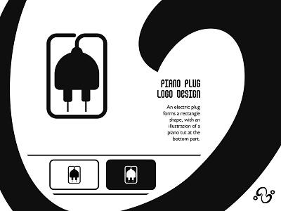 Piano Plug Logo illustration brand designer brand design logomark logotype logo inspiration logo idea logo for sale logo designer logo design voltage electricity electric tone melody orchestra music pianist plug piano
