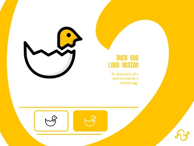 Duck Egg Logo illustration brand designer brand design logomark logotype logo inspiration logo idea logo for sale logo designer logo design livestock eggyolk baby shell animal bird farm poultry egg duck