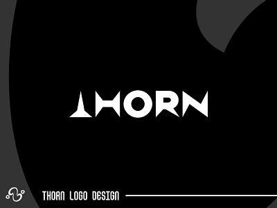 Thorn Logo illustration brand designer brand design logomark logotype logo inspiration logo idea logo for sale logo designer logo design typographic typography initial wordmark lettermark modern simple sharp spine thorn