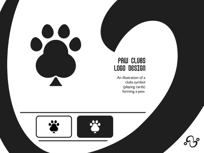 Paw Clubs Logo illustration brand designer brand design logomark logotype logo inspiration logo idea logo for sale logo designer logo design claw pet animal game sport card casino poker clubs paw
