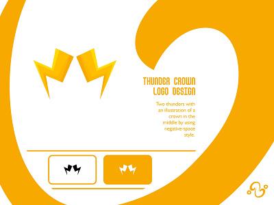 Thunder Crown Logo illustration brand designer brand design logomark logotype logo inspiration logo idea logo for sale logo designer logodesign royal throne kingdom queen king lightning bolt electric crown thunder