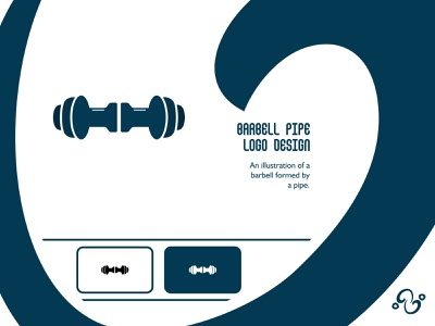 Barbell Pipe Logo illustration brand designer brand design logomark logotype logo inspiration logo idea logo for sale logo designer logo design construction water plumber plumbing muscle workout fitness gym pipe barbell