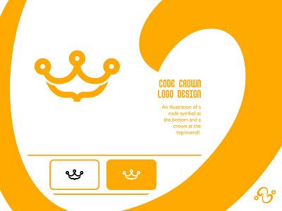 Code Crown Logo illustration brand designer brand design logomark logotype logo inspiration logo idea logo for sale logo designer logo design throne queen king royal technology coding hacker programmer crown code