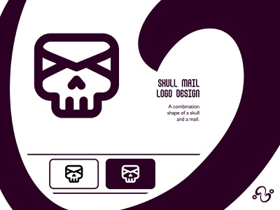 Skull Mail Logo illustration brand designer brand design logomark logotype logo inspiration logo idea logo for sale logo designer logo design post letter envelope email horror ghost bone skeleton mail skull