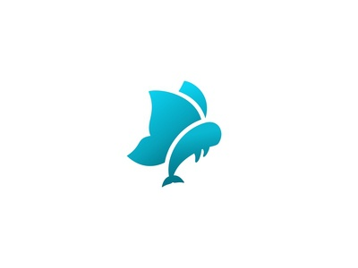 Butterfly Whale Logo