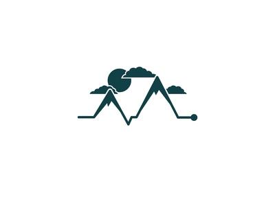Mountain Electrocardiogram Logo