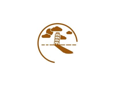 Pisa Tower Clock Logo