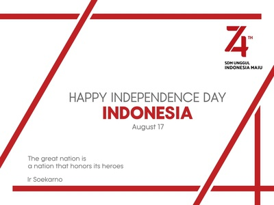 Indonesia 74 Independence Day