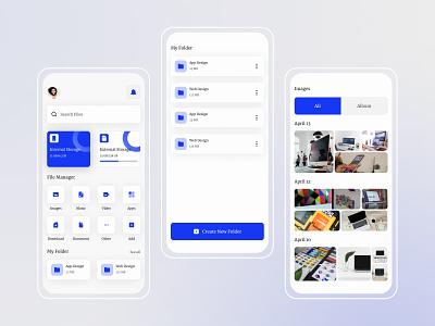 File Manager App - Exploration gradient design icon app design uiux uiux design file manager exploration simplicity illustration app ux design ui