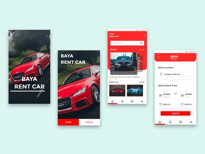 Baya Rent Car App - Design Exploration