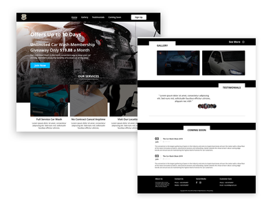 Landing Page Design - Car Wash Company