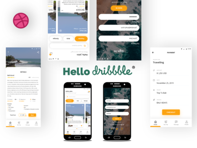 Travel App - Welcome Dribbble