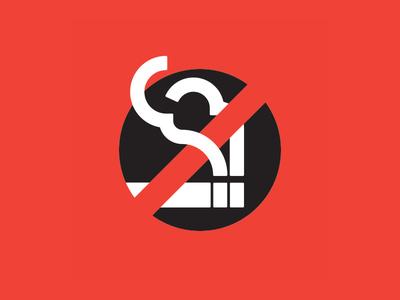 No Smoking minimal icon sign smoking no smoking