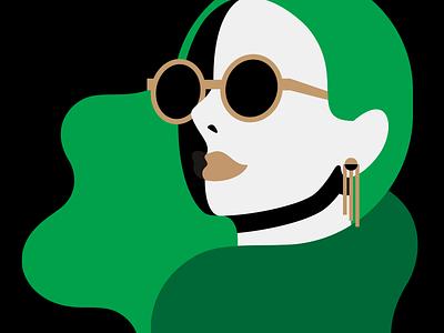 Audrey illustration woman girls portrait geometric
