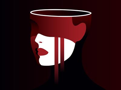 Love On The Brain heartbreak woman portrait illustration girls