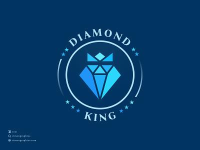 Diamond King Logo emblem logo emblem logo design inspiration vintage badge diamond logo pinterest 3d art adobexd apparel app black and white logo building data app design iconography modern logotype poster design rebranding redesign uxui diamond logo rimongraphics royal diamond logo diamond king logo